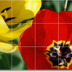 Picture-Tiles, LLC - Flower Photo Shower Tile Mural F149 - * MURAL SIZE: 18x24 inch tile mural using (12) 6x6 ceramic tiles-satin finish.