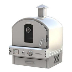 Pacific Living Countertop Gas Pizza Oven - Countertop Stainless Steel Outdoor Gas Pizza Oven