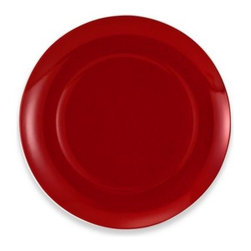 Mikasa - Mikasa 3-Inch Charger Plate in Pure Red - The burst of vivid red design on this porcelain dinnerware adds a subtle richness to your place settings. The floral accents bring out a feeling of autumn and warm comfort food.