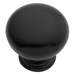 Hickory Hardware - Hickory Hardware 1 In. Modus Matte Black Cabinet Knob - Often characterized with clean, sleek lines.  Marked with solid colors, predominantly muted neutrals or bold bunches of color.  An emphasis on basic shapes and forms.
