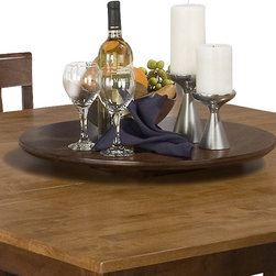 Jofran - Jofran 875-22LS Kura Espresso Canyon Gold 22 Inch Lazy Susan - Combining traditional details with modern designs, Jofran has a collection to compliment any home decor. This Kura canyon lazy sUSAn belongs to 875 series - Kura espresso collection by Jofran inc. The classic formulas of color combinations are not valid in Jofran furniture territory: here is ruled by laws solely of your own preferences and fantasies. Huge selection of colors in combination with a wide choice of shapes and sizes allow you to find among this variety precisely the furniture you've always wanted to see in your home. Jofran furniture offers high quality, casual furniture pieces that are constructed from premium Asian hardwoods, and finished with beautiful veneers. Durable materials and quality assembly will help your furniture to serve for many years and will not let you be disappointed in your choice.
