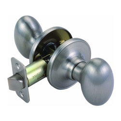 DHI-Corp - Egg 2-Way Latch Passage Door Knob, Adjustable Backset, Satin Nickel - The Design House 750489 Egg 2-Way Latch Passage Door Knob features a lock with an oval shaped styling handle. The oval egg handle fits comfortably in your hand and the satin nickel finish blends with a variety of decor options. It fits doors 1-3/8-inches to 1-3/4-inches thick. The lock fits right or left hand doors and includes a radius and latch plate. The 2-way latch is adjustable from 2-3/8-inches to 2-3/4-inches. The Design House 750489 Egg 2-Way Latch Passage Door Knob provides comes with a limited lifetime mechanical warranty and a 5-year finish warranty that protect against defects in material and workmanship. It is UL listed for use on fire doors to ensure the highest quality and is grade 3 certified. With years of hands-on experience, Design House understands every aspect of the home decor industry, and devotes itself to providing quality products across the home decor spectrum. Providing value to their customers, Design House uses industry leading merchandising solutions and innovative programs. Design House is committed to providing high quality products for your home improvement projects.
