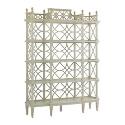 Stanley - Preserve Botany Etagere, Orchid - Chinese Chippendale styling gives a Botany Etagere unmatched grace and presence.