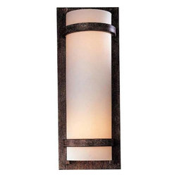 Minka Lavery - Minka Lavery 341-357-PL 1 Light Wall Sconce in Iron Oxide with Etched Opal Glass - 120V LVS ElectronicADA Compliant: Yes Bulb Included: No Bulb Type: Fluorescent Eco: Yes Energy Star Compliant: Yes Extension: 4 Finish: Iron Oxide Glass Shade: Etched Opal Glass Height: 17-1 4 Light Direction: Ambient Lighting Number of Lights: 1 Sconce Type: Wall Washers Style: Contemporary Transitional Suggested Room Fit: Bathroom, Bedroom, Dining Room, Family Room, Foyer, Kitchen, Living Room Voltage: 120 Wattage: 13 Weight: 6.14 Width: 6-3 4