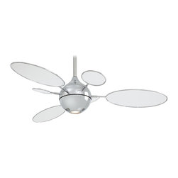 "Minka Aire - Minka Aire F596-PN/TL Cirque Polished Nickel 54"" Ceiling Fan with Wall Control - Winner 2003 Chicago Museum of Architecture and Design"