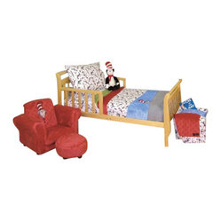 Trend Lab Dr. Seuss Cat in the Hat 4-Piece Toddler Bedding Set