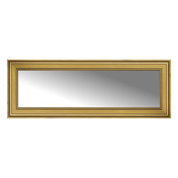 """Posters 2 Prints, LLC - 60"""" x 22"""" Arqadia Gold Traditional Custom Framed Mirror - 60"""" x 22"""" Custom Framed Mirror made by Posters 2 Prints. Standard glass with unrivaled selection of crafted mirror frames.  Protected with category II safety backing to keep glass fragments together should the mirror be accidentally broken.  Safe arrival guaranteed.  Made in the United States of America"""