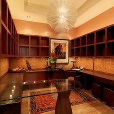 Rustic Home Office by Birdseye Design