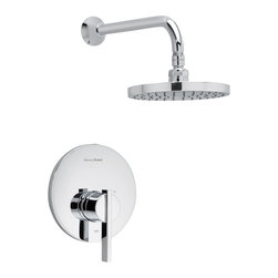 American Standard - Berwick Shower Faucet with Rain Showerhead in Polished Chrome - American Standard T430.501.002 Berwick Shower Faucet with Rain Showerhead in Polished Chrome.