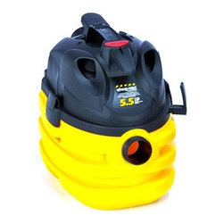 Shop Vac - RS 5 Gallon Port Wet Dry Vac - Right Stuff 5-gallon Portable Wet/ Dry Vacuum with 5.5 peak HP Motor  7-foot hose  Ultra web cartridge filter  High efficient drywall bag  Black/ Gold color.  This item cannot be shipped to APO/FPO addresses. Please accept our apologies.