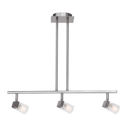 Joshua Marshal - Clear Three Light Down Lighting Dual Mount Ceiling Fixture - Clear Three Light Down Lighting Dual Mount Ceiling Fixture