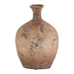 "Benzara - Ceramic Vase with Classic Design in Soft Earthy Colors - Ceramic Vase with Classic Design in Soft Earthy Colors. A lovely blend of colors like light brown, coffee, dark brown and black. It comes with a dimension of 10''W x 4""D x 14""H. Some assembly may be required."