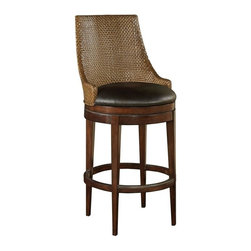 EuroLux Home - New Counter Stool Brown/Beige/Tan - Product Details