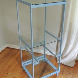 Blue Metal Shelf Unit -