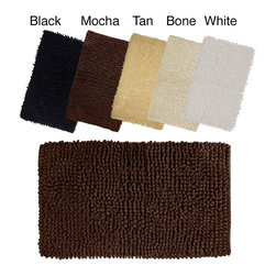 None - Solid-colored Loop Twist 100-percent Cotton 20 x 32 Bath Rug - Look forward to stepping out of the shower with this luxurious,absorbent cotton bath mat,available in an array of neutral colors. It is machine washable for easy care and perfect for putting the finishing touch on your bathroom decor.