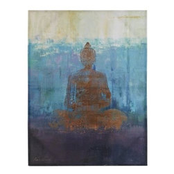 Cool Buddha Art - Indigo always evokes a worldly feel for me, so this Buddha print seem quite appropriate.
