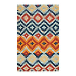 """Safavieh - Contemporary Chelsea 5'3""""x8'3"""" Rectangle Multi Color Area Rug - The Chelsea area rug Collection offers an affordable assortment of Contemporary stylings. Chelsea features a blend of natural Multi Color color. Hand Hooked of Wool the Chelsea Collection is an intriguing compliment to any decor."""