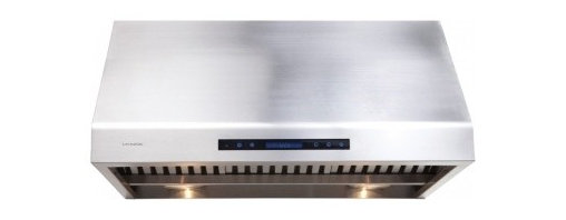 """Cavaliere - Cavaliere AP238-PS81 Under Cabinet Range Hood - 36"""" - Cavaliere Stainless Steel 360W Under Cabinet Range Hoods with 4 Speeds, Timer, LCD Keypad, Stainless Steel Baffle Filters, Heat Lamps & Halogen Lights."""