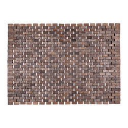 Entryways - Roosevelt Exotic Wood Mat - Black 18x30 - Crafted of exotic wood, this handsome mat will add an elegant touch to any home. It is from Entryways Exotic Woods collection and meets the industry's highest standards. This design combines natural beauty and durability with surprising affordability.
