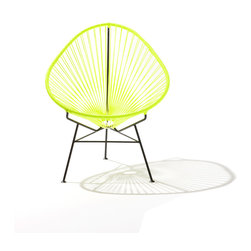 Acapulco Chair, Neon Yellow on Black Frame - The iconic Acapulco chair is hotter than ever in neon yellow.