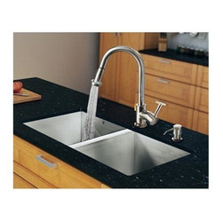 Vigo Industries - 32 in. Double Bowl Kitchen Sink and Faucet Set - Modernize the look of your entire kitchen with a VIGO All in One Kitchen Set.