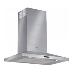 "Bosch - 300 Series HCP30651UC 30"" Pyramid Canopy Chimney Hood with 600 CFM Centrifugal I - Boschs wall mounted chimney hood will add style and sophistication to your kitchen without sacrificing performance This hood features 600 CFM centrifugal integrated blower which will get rid of any smoke grease or odor that may result after cooking T..."