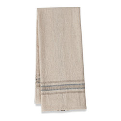 Origin Crafts - Khadhi cotton tea towels (oatmeal/ivory/navy), set of 2 - Khadhi Cotton Tea Towels (Oatmeal/Ivory/Navy), Set of 2 The Khadhi collection of refined linens embodies a nostalgic vintage French style. Because Khadi cotton fabric is entirely handmade ? from the spinning to weaving stage, it has a natural, earthy look and feeling. At the same time, it?s understatedly chic and these Khadhi tablecloths, napkins and handkerchiefs are perfect for outdoor dining, complementing a rustic breakfast table or contrasting and softening a modern dining room setting. A Caravan exclusive. Each 100% cotton tea towel is entirely handmade and yarn dyed for a natural texture. Easy care and practical: machine washable, ironing is optional. Dimensions (in):20x30 By Couleur Nature - Couleur Nature is a wholesaler of fine, French-inspired Indian woodblock-printed and vintage linens. Couleur Nature?s linens and home accessories are versatile and can be used for formal or casual table settings year-round, as well as the every day. Their distinct but wide appeal makes them ideal for almost any occasion, decor or personal style. Usually ships in three business days. Our linens are handmade: slight variations are natural and make each piece unique.