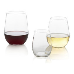 """Stemless Wineglasses - Don't forget to say """"Cheers!"""" These stylish stemless wineglasses are my favorite thing to serve wine in."""