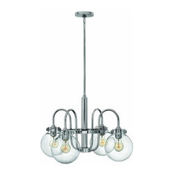 Hinkley Lighting - Hinkley Lighting 3044 Congress 4 Light 1 Tier Chandelier - Four Light Single Tier Chandelier with Clear Globe Shade from the Congress CollectionFeatures: