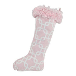 Chooty & Co. - Chooty and Co. Gotcha Bella with Shaggy Pink Cuff Christmas Stocking - TTB3012 - Shop for Home Furnishings and Accents from Hayneedle.com! Delicate in color yet durable enough to handle all the gifts of the deserving little girl at the top of Santa's Nice List the Chooty and Co. Gotcha Bella with Shaggy Pink Cuff Christmas Stocking a must-have keepsake. This adorable and highly functional decoration is crafted from genuine cotton fabric in pink and white with an extra-fluffy cuff and convenient hanging loop.About Chooty & Co.A lifelong dream of running a textile manufacturing business came to life in 2009 for Connie Garrett of Chooty & Co. This achievement was kicked off in September of '09 with the purchase of Blanket Barons well known for their imported soft as mink baby blankets and equally alluring adult coverlets. Chooty's busy manufacturing facility located in Council Bluffs Iowa utilizes a talented team to offer the blankets in many new fashion-forward patterns and solids. They've also added hundreds of Made in the USA textile products including accent pillows table linens shower curtains duvet sets window curtains and pet beds. Chooty & Co. operates on one simple principle: What is best for our customer is also best for our company.