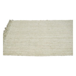 """nuLOOM - Natural Fibers Bleached Machine Made Area Rug Chunky Loop, Bleached, 8' 6"""" X 11' - Made from the finest materials in the world and with the uttermost care, our rugs are a great addition to your home."""