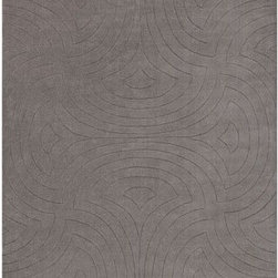 Surya Rugs - Surya SCU7550 Sculpture Designer Hand Loomed 100% Wool Gray Rug (5-Feet x 8-Feet - 100% Wool. Style: Designer. Rugs Size: 5' x 8'. Note: Image may vary from actual size mentioned.
