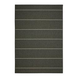 "Pawleys Island - Pawleys Island Palmetto Stripe Porch Rug, Grey, 7' 6"" X 10' 9"" - A Touch of Indoor Luxury Outdoors"