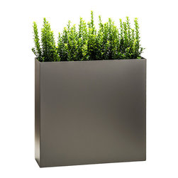 Modern Planter - Partition Tower Planter - Pewter, Standard - Growth strategy: You want a flexible, organic plan for marking areas in your home, office or patio. Enter this elegant planter. The base is deep enough to hold root systems for the most extravagant plants, giving you the ability to change its character frequently. Who knew a wall could lead to such freedom of expression?