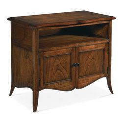 Baker Furniture - Nightstand - This Nightstand has a shaped top of fine figured Mindi veneer and ...