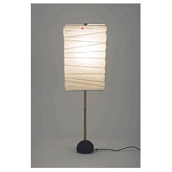 Noguchi BB1-30XN Table Lamp By Akari Lamps - The Noguchi Paper Lamps are considered modern during the post war era.