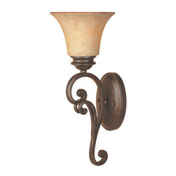Designers Fountain - Designers Fountain 81801 Single Light Up Lighting Wall Sconce from the Mendocino - Features: