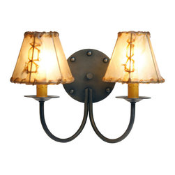 Steel Partners Inc - Sconce - Double - RIVETS - Every piece we create is unique — handcrafted at our factory in Chehalis, Washington, USA. Due to this, lead times are 2 to 4 weeks.