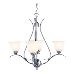 Trans Globe Lighting - Trans Globe Lighting PL-9280 BN ES Ribbon Branched Mini Chandelier In NickelEner - Simply elegant indoor lighting collection perfect for coastal dEcor themes with seagull wing chandelier supports. Matching pendant styles. Energy saving fixture uses GU-24 bulbs.