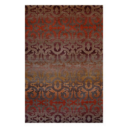 A Rug For All Reasons - Wrought Iron (red) - This beautiful collection of Tibetan rugs are hand knotted in Nepal by Tibetan refugees. The knotting technique is different than that in other hand knotted rugs. The technique involved requires that the designs be fairly simple, which is appreciated by people looking for rugs that are not �busy.� These rugs are made using hand carded Tibetan wool. They're wonderfully dense and luxurious. The quality is hard to appreciate from looking at photos online. In addition, Tibetan rugs are perfect for customizing, size, color or design, partly because the weaving process is fairly quick. A Rug For All Reasons is happy to work with you in coming up with the perfect rug for your space, providing you with a color rendering of the design in a new size or the custom colors you�ve chosen. You may order a small strike-off for your approval before proceeding with a larger size.�