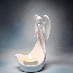 ATD - 3 5/8 Inch White/Silver Colored Praying Angel Tealight Candle Holder - This gorgeous 3 5/8 Inch White/Silver Colored Praying Angel Tealight Candle Holder has the finest details and highest quality you will find anywhere! 3 5/8 Inch White/Silver Colored Praying Angel Tealight Candle Holder is truly remarkable.