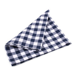 Ladelle - Gingham Blue Napkins, Set of 4 - We definitely have a thing for Gingham. This collection is made of 100% cotton, with matching tablecloths, placemats, table runners and napkins. Makes a stylish addition to any picnic, summer BBQ or family dinner at home.