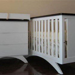 "Eden Baby Furniture - Madison 4-in-1 Convertible Crib Set - Features: -Madison collection. -White / Espresso finish. -Moon-shaped base sets crib apart from more prosaic designs. -Design is simple, yet modern enough to match any room. -Inspired by European furniture styles with two-tone color and sleek design. -Can convert into a toddler bed and full-size bed. -Toddler guard rail is included. Dimensions: -80"" H x 58"" W x 33"" D, 67 lbs. Please Note: There is $50 restocking fee to return all Eden Baby Furniture products"