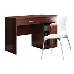 South Shore - South Shore Axess Small Computer Desk in Royal Cherry - South Shore - Computer Desks - 7246070 - Need to tidy up your home office? This Axess collection small desk is perfect for all your storage needs! Its design includes all the space you need for a well-organized workspace thanks to its closed storage spaces. In addition, the work surface is great.