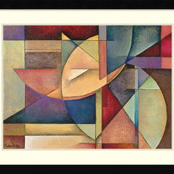 Amanti Art - Sections of My Destiny Framed Print by Marlene Healey - Marlene Healey's use of vibrant color in this abstract print is just what your contemporary plain room needed. The various shapes of all colors liven your look in an instant.