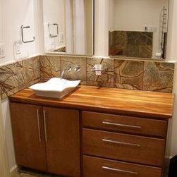 DeVos Woodworking African Mahogany Wood Tops - African Mahogany custom vanity top