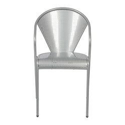 Protech Side Chair (Set Of 4)-Alum - This sleek chair gives you lots of room to sit down and slide back into supportive comfort. You know you're there when the arched portion of the seat rest kisses the backs of your knees.