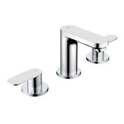 "Grohe - Grohe 20 199 000 Eurosmart Double Handle Widespread Lavatory Faucet, Starlight C - Grohe 20 199 000 Eurosmart Double Handle Widespread Lavatory Faucet, Starlight Chrome Grohe 20 199 000 Eurosmart Double Handle Widespread Lavatory Faucet, Starlight Chrome Features: 3 1/2"" Spout Reach 4 1/4"" Spout Height Solid Brass Construction GROHE SilkMove Ceramic Cartridges Lever Handles ADA Compliant Flow Rate: 2.2gpm Drain Assembly Included"