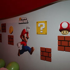 super mario wall murals themed kids room decorating ideas best wall