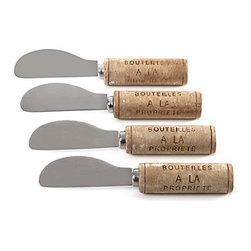 Wine Cork Spreaders - These Wine Cork Spreaders are charming! They're perfect for a cheese plate.